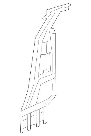 Genuine 2012 Honda CIVIC COUPE Pillar, R Center (Inner