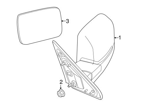 Genuine OEM Factory Parts forOutside Mirrors for 2014 Ram