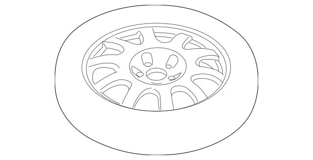 2012-2018 Porsche Spare Wheel OEM Part# 991-362-020-00