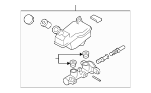 2009-2014 Nissan Cube Master Cylinder D6010-1FE2C