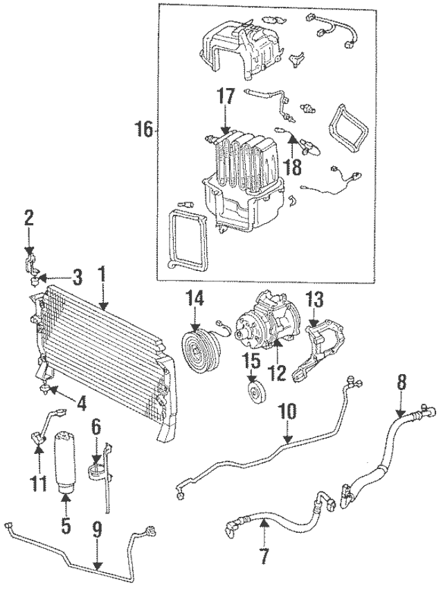 1994-2004 Toyota Compressor Mount Bracket 88431-34020