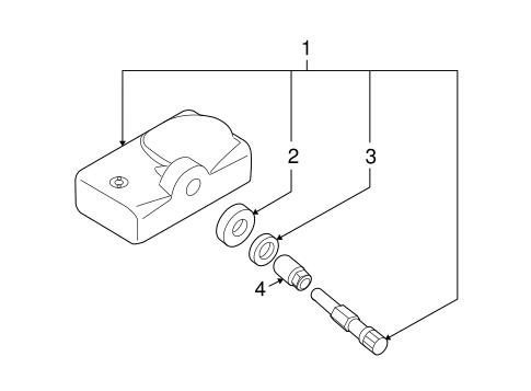 Tire Pressure Monitor Components for 2008 Mazda CX-9