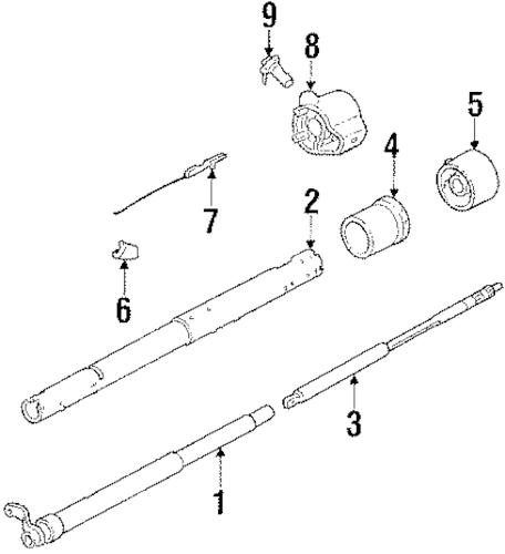 STEERING COLUMN & WHEEL Parts for 1989 Chevrolet Suburban