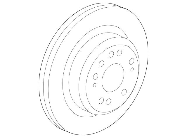 2005-2012 Acura RL SEDAN Disk, Rear Brake Drum (Inner