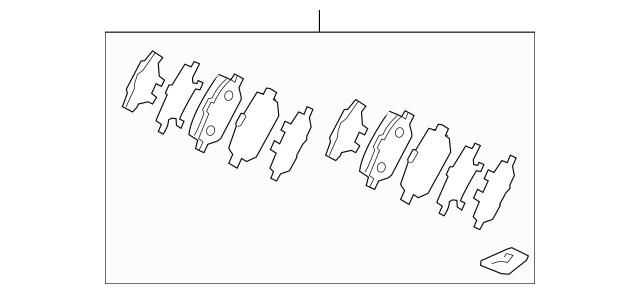 2005-2012 Acura RL SEDAN Pad Set, Rear 43022-SJA-J02