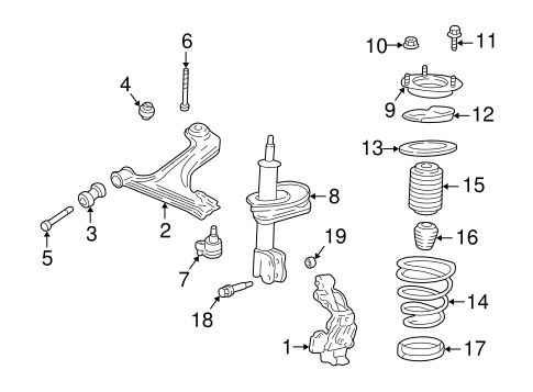 Suspension, Springs & Related Components for 2001