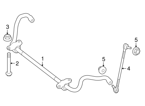 Stabilizer Bar & Components for 2010 Mercedes-Benz E 350