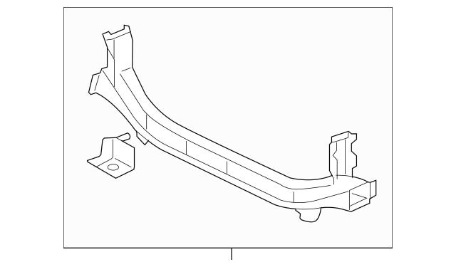 Genuine OEM Lower Tie Bar Part# 5256B113 Fits 2008-2017
