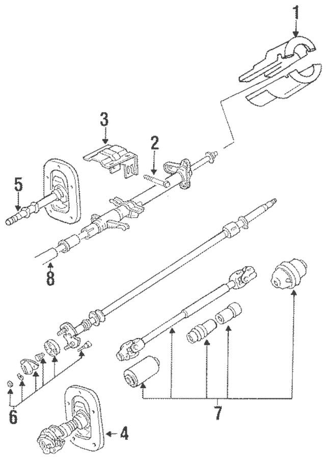 1987-1989 Mitsubishi Mighty Max Joint Assembly MB489184