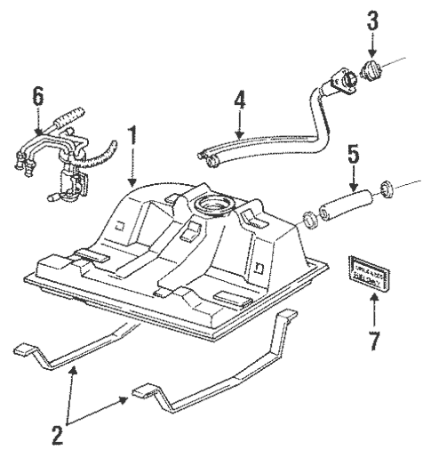 Fuel System Components for 1993 Oldsmobile Cutlass Supreme
