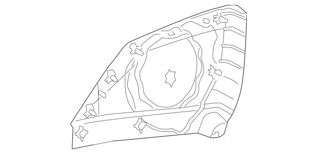 Mercedes-Benz OEM Speaker Grille Part# 209-727-03-88-7E94