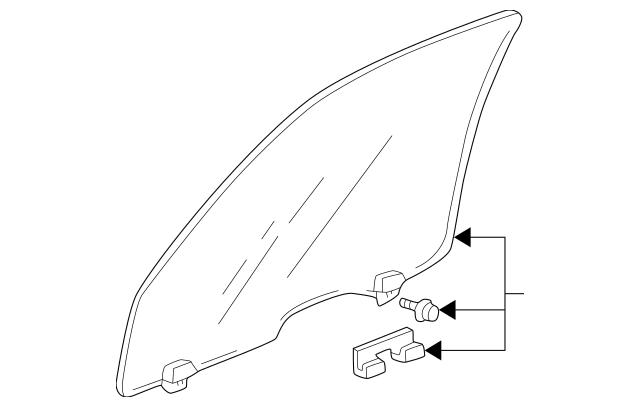 1997-2001 Honda CR-V 5-DOOR Glass Assembly, L Front Door