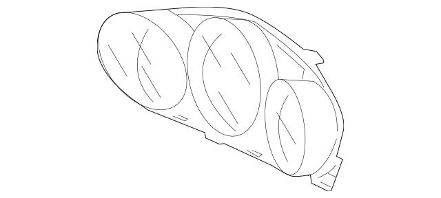 2005-2010 Acura RL SEDAN Visor Assembly, Meter 78156-SJA
