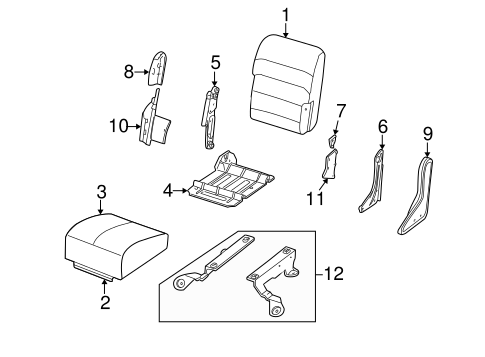 FRONT SEAT COMPONENTS for 2003 Ford Excursion