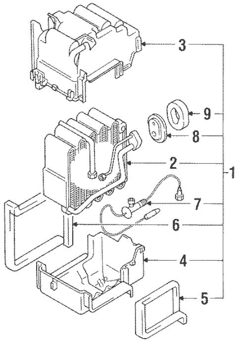 Condenser, Compressor & Lines for 1992 Mitsubishi 3000GT