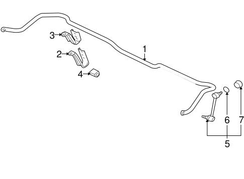 Stabilizer Bar & Components for 2003 Mitsubishi Lancer