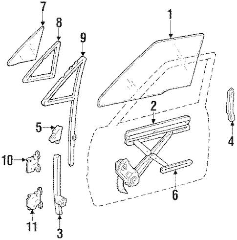 FRONT DOOR for 1987 Toyota 4Runner