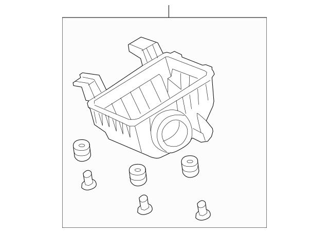 Genuine 2007-2011 Honda ELEMENT 5-DOOR Case Set, Air