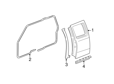 DOOR & COMPONENTS for 2004 Ford Ranger
