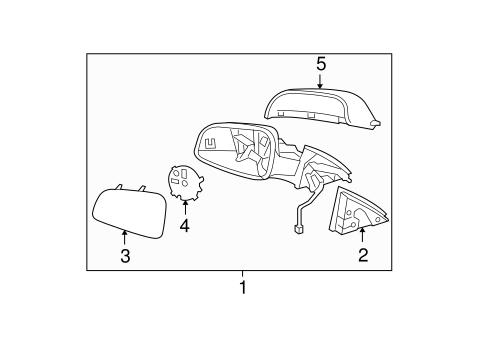 OEM 2010 Chevrolet Malibu Outside Mirrors Parts