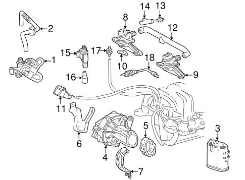Emission Components for 2003 Mercedes-Benz CL 55 AMG