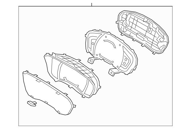 2019-2020 Hyundai Santa Fe Cluster Assembly 94001-S2130