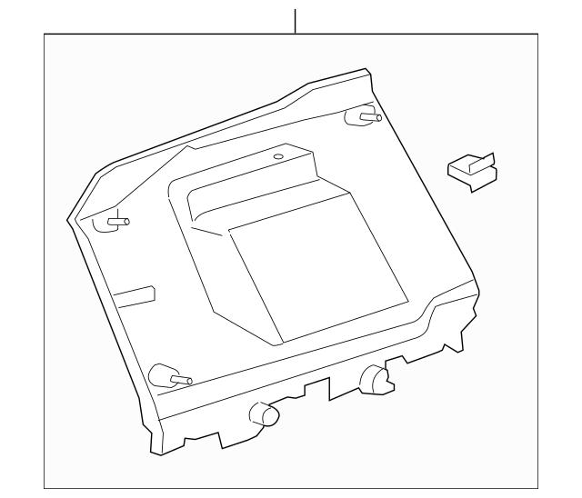 2008-2015 Scion xB Quarter Trim Panel 62480-12190-B0