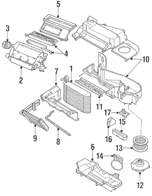 OEM Evaporator & Heater Components for 1996 Buick Regal