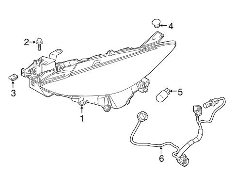 Genuine OEM Headlamp Components Parts For 2018 Mazda 3