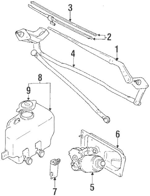 Wiper & Washer Components for 1993 Suzuki Sidekick