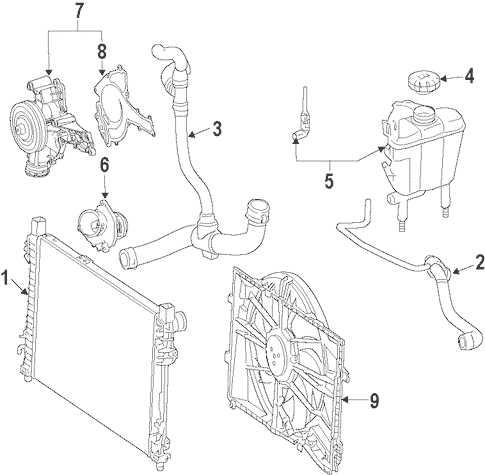 RADIATOR & COMPONENTS for 2008 Mercedes-Benz CL 63 AMG