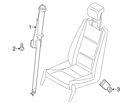 Third Row Seat Belts for 2014 Ford Transit Connect