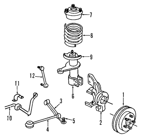 SUSPENSION COMPONENTS for 1996 Chrysler LHS