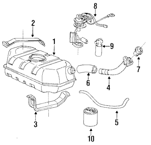FUEL SYSTEM COMPONENTS for 1994 Chevrolet S10 Blazer