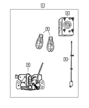 OEM Mopar Integrated Key Fob Transmitter For 2011-2012
