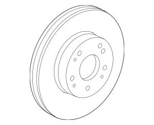 Discount Genuine OEM Honda Disk, Front Brake 45251-TLA-A00