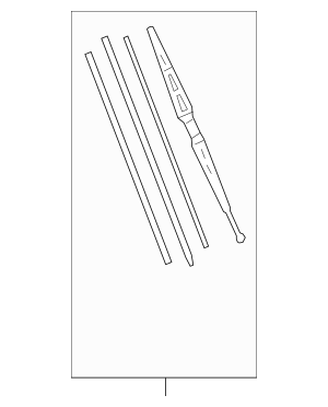 2005-2012 Acura RL SEDAN Blade, Windshield Wiper (475MM