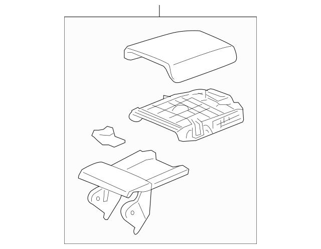 Honda Armrest Assembly, Console *NH686L* (Leather) (Warm