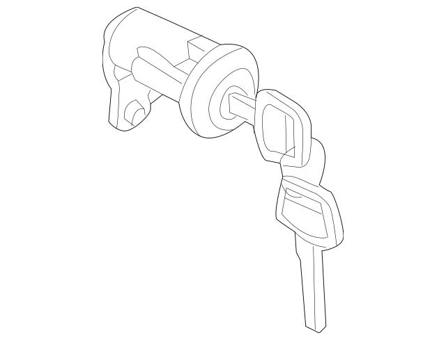 2007-2018 Nissan Frontier Cylinder & Keys K3477-EA80J