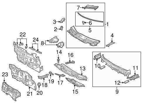 2010 Toyota Prius Body Parts Diagram