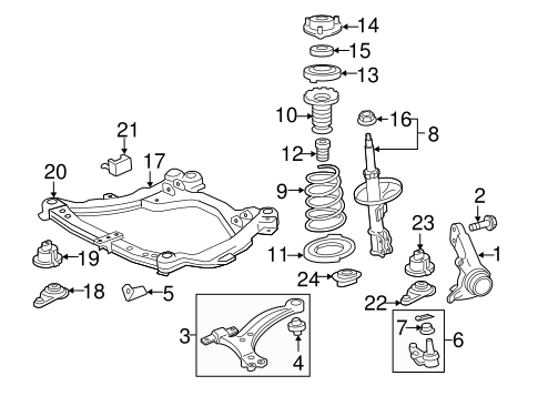 Genuine OEM SUSPENSION COMPONENTS Parts for 2007 Toyota