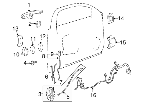 20790495 Lock Assembly for 2008 Chevrolet Impala : GM