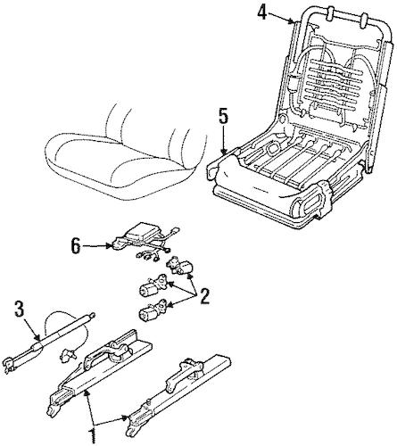 OEM 1997 Cadillac Seville Power Seats Parts