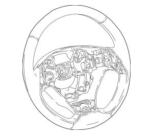 2018-2019 Toyota C-HR Steering Wheel 45100-10460-C2