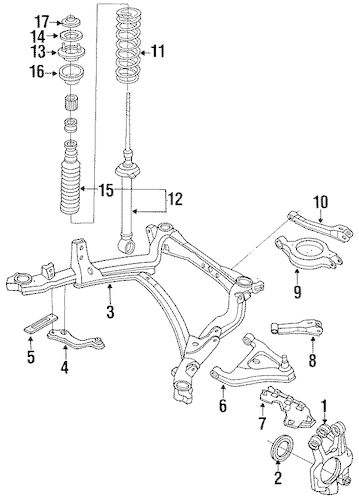 REAR SUSPENSION for 1994 Nissan 240SX
