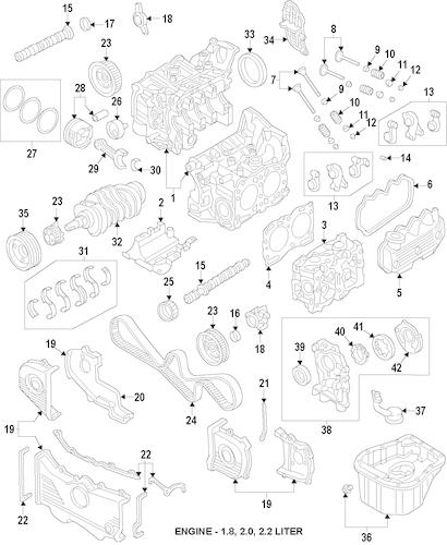 Engine for 2002 Subaru Impreza