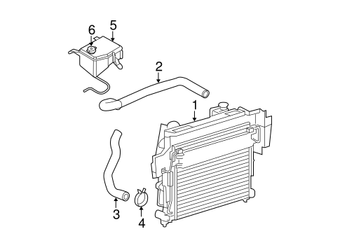 RADIATOR & COMPONENTS for 2006 Jeep Commander