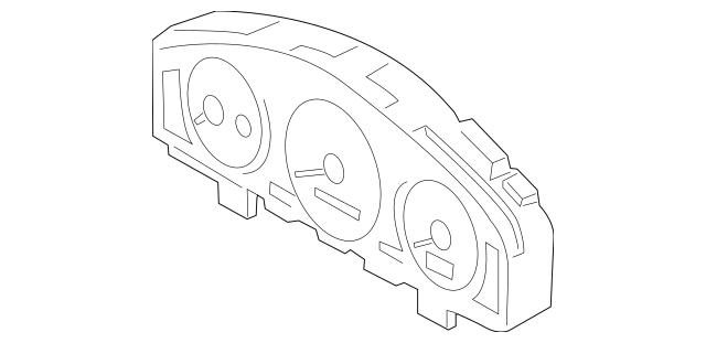 2000-2001 Mazda MPV Instrument Cluster LC62-55-430A
