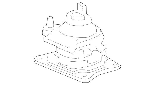 2004-2005 Acura TSX Rubber, Rear Engine Mounting (AT