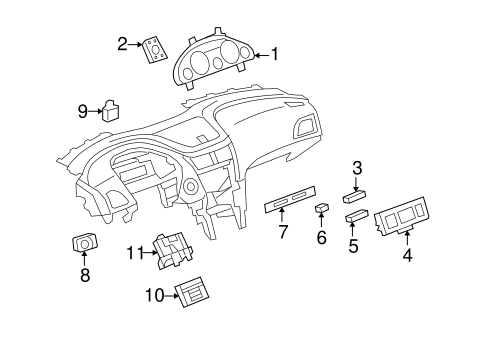OEM Headlamp Components for 2008 Buick Enclave